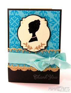 Classy & Elegant Silhouette Thank You Card by @Julie Campbell
