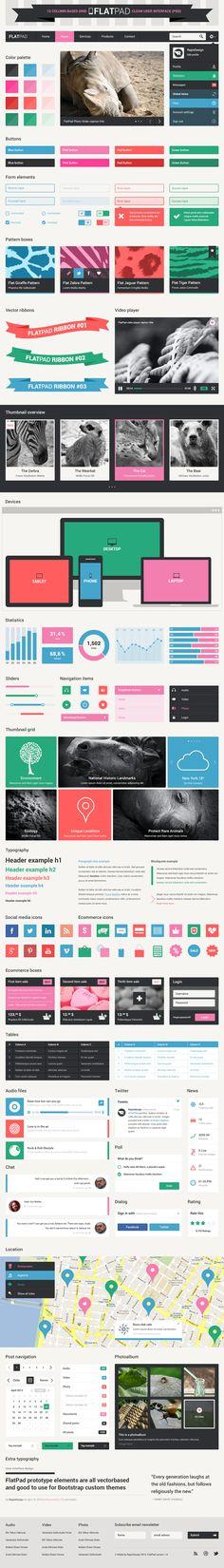 Photoshopテンプレート 12カラム web-design Bootstrap