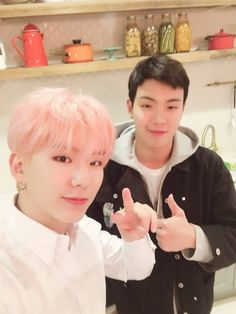 Yoo Ki Hyun (Kihyun) and Son Hyun Woo (Shownu)