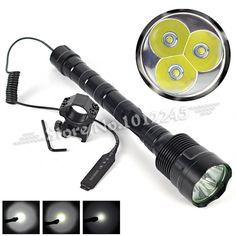 (27.24$)  Buy here - http://ain0f.worlditems.win/all/product.php?id=32347891755 - 6000Lm 3x XML T6 LED Hunting Flashlight Lamp 6000 Lumens 5 Modes Linterna 3T6 LED Torch Light+Gun Mount+Remote Switch