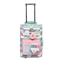 Crckt 18 Kids Carry On Suitcase - Donut, Gray Travel Items, Travel Bags, Travel Packing, Cute Suitcases, Suitcases For Girls, Packing List Beach, Cute Luggage, Cute School Supplies, Carry On Suitcase