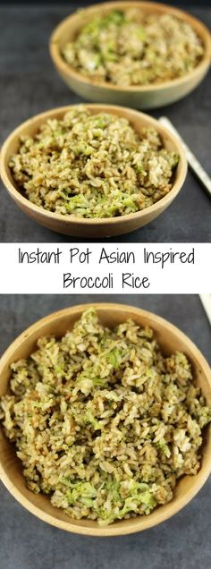 This Instant Pot Asian Inspired Broccoli Rice was dinner tonight, it was paired with my Soy Honey Sesame Chicken. I had to get a little creative for this one. My family adores Asian cuisine, but most of you know I am not Asian. I wanted something similar to a fried rice, but without the egg.