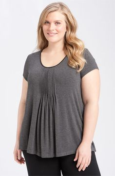 @DKNY '7 Easy Pieces' Pintuck Top (Plus)   @Nordstrom