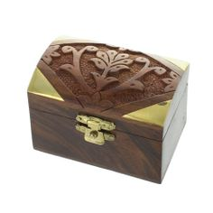 Mini Carved Box £4.50   #wood #box #home