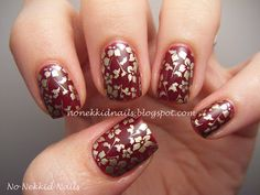 No Nekkid Nails: Ulta Deep Desire Flower Stamp with Sally Hansen Gold Chrome Pen