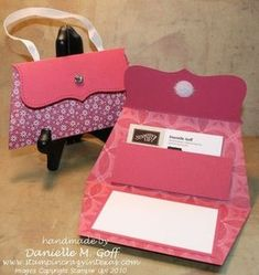 Handbag envelopes. - for a gift card or money gift - cute...