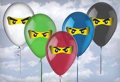 Ninja Balloon Eyes Digital File by SFCInvites on Etsy, $6.00