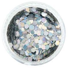 Silver Holographic Jewel Hexagon Glitter – Solvent Resistant Glitter from Glitties Nail Art Online Store Bulk Glitter, Silver Glitter, Holographic Glitter, Nail Decorations, Powder Nails, Fun Diy, Art Online, Gel Polish, Slime