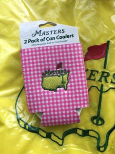 2016 Augusta National Masters Golf 2 Pack of Can Coolers Koozies Free s H Plaid | eBay