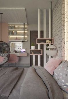 Teen Schlafzimmer: Siehe 65 perfekte Ideen, Fotos und Designs - Teen Bedroom id. Interior Design Living Room, Affordable Home Decor, Bedroom Interior, Girl Bedroom Designs, Bedroom Design, Bedroom Decor, Girl Room, Small Rooms, Home Decor