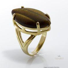 Moabe Acessórios: Coleção anéis navetes com pedras naturais brasilei...