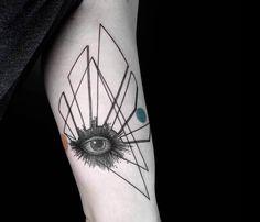 eye tattoo by Okan Uckun