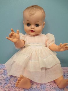 """Adorable, 19"""" All Vinyl Vintage Baby Doll  Looks just like my Jimmy doll I still have."""