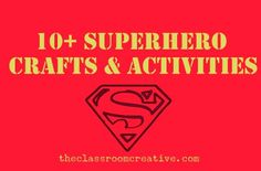 Superhero ideas crafts and activities for kids.