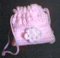 Original crocheted cradle purse pattern