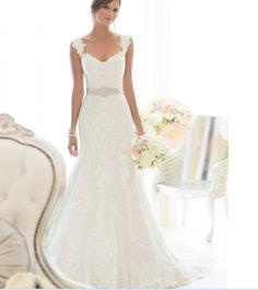 c94bb056ddd Купить товар Новая горячая 2017 свадебный кадр кружева элегантный русалка  свадебное платье в категории Свадебные платья