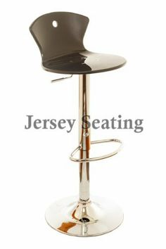 "New JERSEY SEATING Black Bar Stool Counter Swivel Chair by JerseySeating. $34.00. Seat Width: 15.1"". Height: 30.6"" - 38.9"". Seat Depth: 15.7"". Base Size: 15.1"" Across. Seat Material: Acrylic. Classy comfortable design. High quality Acrylic. Packed very well. Chrome finished steel base. Swivels all the way around. Nice foot rest bar. Heavy duty hydraulic strut. Height is adjustable. Black Bar Stools, Home Bar Furniture, Swivel Chair, Foot Rest, The Struts, Chrome Finish, Home Kitchens, It Is Finished, Steel"