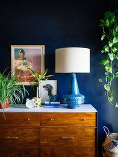 Spotted: the Scandi Ceramic lamp in blue!
