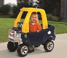 Little Tikes Boys Toddlers Cozy Pick-Up Truck Ride-On Kids Vehicle Push-Car Toy
