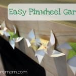 Easy Pinwheel Garland - would be great with seasonal paper ant time of year