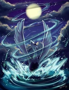 Lugia, my spirit legendary pokemon! Lord of the sea!:):) pokemon the best one ever! Pokemon Fan Art, Lugia Pokemon, Pokemon Go, Dragon Pokemon, Pokemon Legal, Pokemon 2000, Pikachu Art, Pokemon Movies, Pokemon Stuff