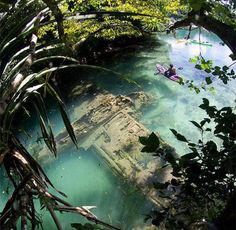 Crashed & Sunken World War II plane found in Nikko Bay, Palau.