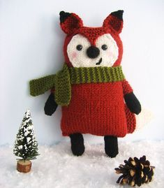 How cute is this!    Ravelry: Knit Little Fox Amigurumi Pattern pattern by Amy Gaines