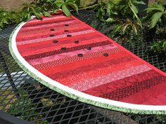 original strip piecing table runner pattern on http://www.allpeoplequilt.com/search/site/watermelon%20runner  pattern is free.