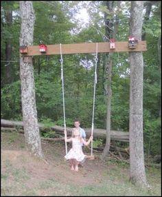 Swing between trees