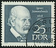 Picture of stamp printed by Germany, shows portrait Ignaz Semmelweis, circa stock photo, images and stock photography. Stamp Printing, First Day Covers, Portal, Famous People, Germany, Stock Photos, Baseball Cards, History, Creative
