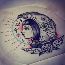 vintage astronaut tattoo - Buscar con Google                                                                                                                                                                                 Más