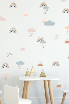 Looking for a way to add color to your walls? These super cute rainbow wall decals are an easy way to transform your interior space and evoke instant joy. You'll love that our wall decal is 100% removable and will not damage your walls. Handmade in our studio located in Bozeman, Montana. Crafted from extremely high-quality wall vinyl. Super simple to install. Just peel and stick. Perfect for styling rental properties, nurseries, kid's rooms, home offices and living spaces. Rainbow Nursery Decor, Boho Nursery, Wall Spaces, Living Spaces, Wall Stickers, Wall Decals, Crib Wall, Wall Vinyl, Rainbow Wall