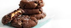 Double-Chocolate Peanut-butter Biscuits recipe, brought to you by MiNDFOOD.