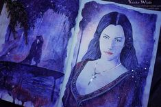 Lord of the Rings - Arwen and Aragorn (by Kinko-White) Hobbit Art, The Hobbit, Watercolor Books, Watercolor Paintings, Watercolor Ideas, Elven Princess, Jackson, Legolas, Tauriel