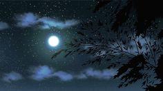 gif Black and White sky landscape moon scenery star cloud anime . Anime Moon, Sky Anime, Anime Gifs, Anime Art, Aesthetic Gif, Aesthetic Backgrounds, Aesthetic Black, Gif Animé, Animated Gif