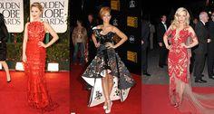 傳統剪紙設計也活躍於紅毯女星身上。(由左至右:Dianna Agron、Rihanna、Rachel McAdams)