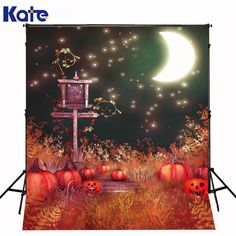 Find More Background Information about Backdrop Fantasy Sky Bright Moon Halloween Photographic Background Pumpkin  Kate Background Backdrop,High Quality backdrop frame,China backdrop Suppliers, Cheap backdrop banner from Art photography Background on Aliexpress.com