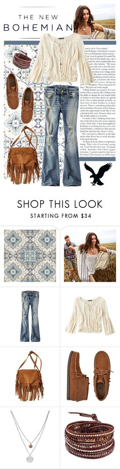 """""""The New Bohemian with American Eagle Outfitters: Contest Entry"""" by boho-at-heart ❤ liked on Polyvore featuring American Eagle Outfitters, Kenneth Cole, Chan Luu and aeostyle"""
