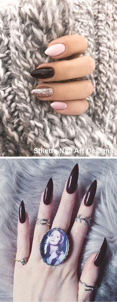 30 Great Stiletto Nail Art Design Ideas #nail #stiletto Winter Nails, Spring Nails, Summer Nails, Bio Gel Nails, Gel Nail Art, Creative Nail Designs, Nail Art Designs, Nails Design, Glam Nails