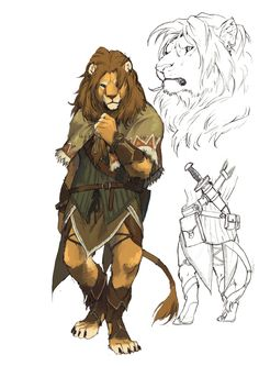 lion2 by koutanagamori.deviantart.com on @deviantART, lion character very well done, looks like a traveler