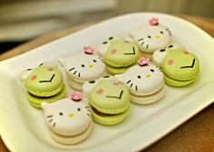 My Hello Kitty and Keroppi macarons...
