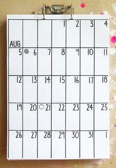 Wochenplaner - Wandkalender Apr 2015 - Sep 2016 - ein Designerstück von rabka2008 bei DaWanda