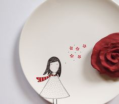 Alice girl plate. $34.00, via Etsy.