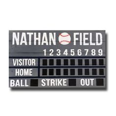 Order your Custom Baseball/Softball Wooden Pallet Scoreboard for your nursery, mancave or wedding decor!