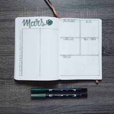 Here's my monthly log for March in my Bullet Journal!  I'm really happy with this look.  Are you ready for March?