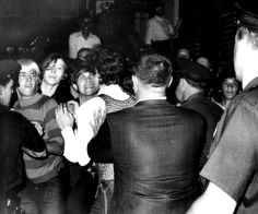 On June 28, 1969, New York City police officers raided the Stonewall Inn. As the bar patrons protested, more people gathered outside, and soon supporters began flocking to Greenwich Village. Although there were nearly 400 protesters, police arrested only 13 people over the course of the six-day riot.