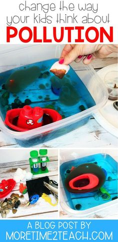 Help Your Kids Understand The Disastrous Effects Of Water Pollution With This Oil Spill Experiment. This Hands On Science Activity Will Allow Them To See For Themselves Exactly How Difficult Cleaning Up Oil Spills In The Ocean Really Are. Science Week, Science Projects For Kids, Preschool Science, Elementary Science, Science For Kids, Environmental Science Projects, Recycling Activities For Kids, Science Education, Physical Science