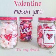 DIY Valentine vinyl decals for mason jar gift at diyshowoff.com (scheduled via http://www.tailwindapp.com?utm_source=pinterest&utm_medium=twpin&utm_content=post957949&utm_campaign=scheduler_attribution)