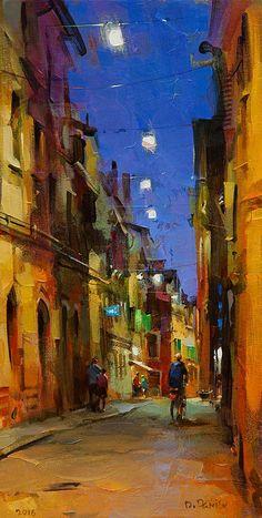 Artist: Dmitri Danish, Title: Ferrara Twilight - click to close window