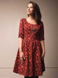 Serephina dress orange - Fair Trade - Mata Traders #ethicalfashion www.matatraders.com